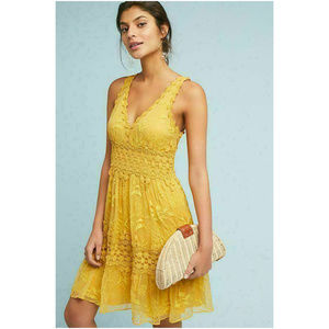 Anthropologie Ranna Gill Veronica Lace Midi Dress